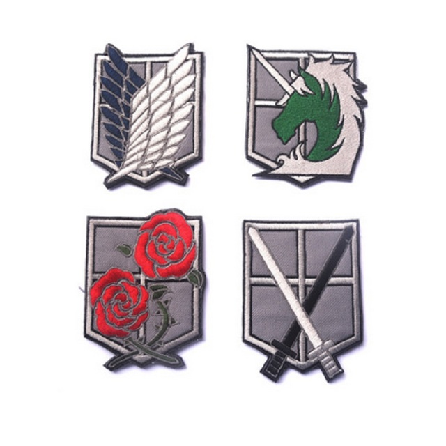 f5843b00 US $5.56 5% OFF|3pcs/lot 3D Embroidery armband Hook Attack on Titan  Investigation Corps armband Scout Regiment Legion Survey Corps patch-in  Patches ...
