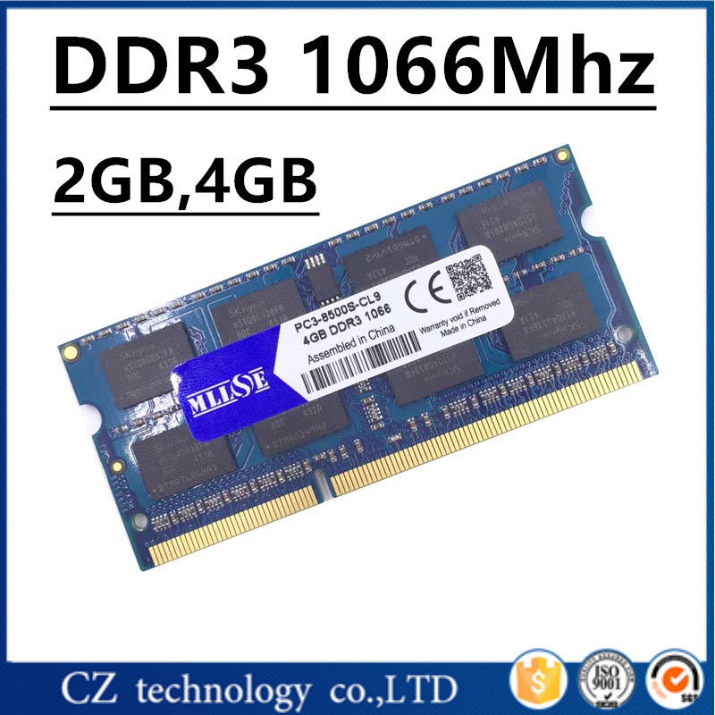 MLLSE 2gb 4gb ddr3 1066 pc3-8500 sodimm laptop, ddr3 1066Mhz 4gb pc3 8500 so-dimm notebook, memory ram ddr3 1066 mhz 4gb sdram