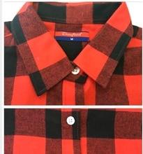 Flannel Plaid Shirt Winter Women Tops Red Plaid Christmas Shirt Long Sleeve Plus Size Fashion Casual Blouse