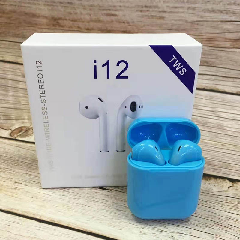 i12 Sugar Color Touch Control Bluetooth Earphones For iPhone And Android 2
