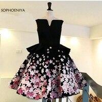 Новое поступление на заказ с цветочной аппликацией плюс размер коктейльные платья розовый и белый черный сексуальное коктейльное платье