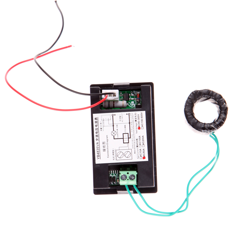 Auto Car Ac 500v 100a Digital Voltmeter Ammeter Led Amp 300 Voltage Meter Wiring Diagram Volt Measure Accessories In Meters From Automobiles Motorcycles On