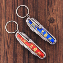 Multi-Functional 91mm Folding Knife Stainless Steel Multi Tool Army Knive Pocket Hunting Outdoor Camping Survival Knife Keychain