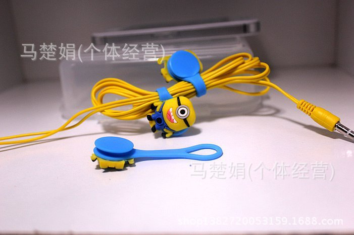 3sets despicable me minions cable winder set 3in1 cartoon bobbin winder  arrange messy line earphone line holder free shipping-in cable winder from  consumer