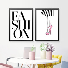 Posters And Prints Wall Art Canvas Painting Pictures Nordic Fashion Girl Picture Decoration HD2385