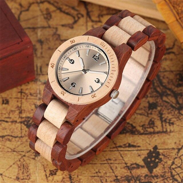 Reloj de pulso en madera completo colores 2