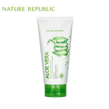 Nature Republic Korean Skin Care Soothing Mosture Aloe Vera Foam Cleanser Face Cleansing Moisturizing Whitening Deep Clean hydra b5 soothing foam cleanser 180ml