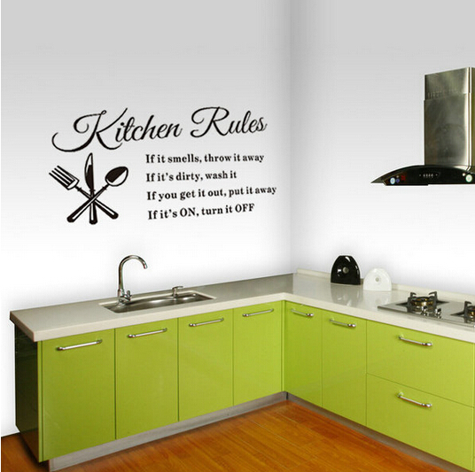 Wonderful DIY Wall Stickers Kitchen Rules Decal Home Accessories Beautiful Restaurant  Decoration Kitchen Wall Stickers Wall Art In Hair Clips U0026 Pins From Beauty  ...