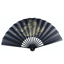 Summer Folding Fan Bamboo Silk Hand-Held Flower Printing  Party Home Decoration Crafts 1