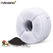 цена на 4pcs/lot Activated Carbon Filter For 1.6L LED Automatic Water Drinking Fountain Cat Dog Kitten Pet Bowl Drink Dish Filter