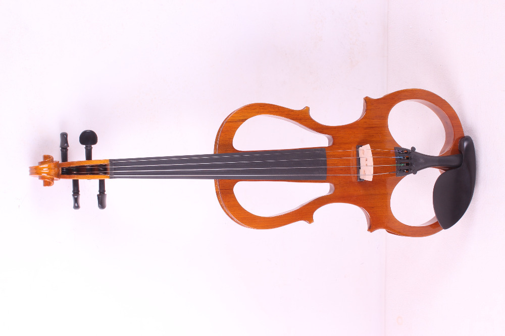 orange 4  -String 4/4 New Electric Acoustic Violin    #5-2518#  i can make any color lomond 1209122 80 2 914 175 76