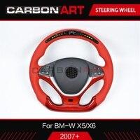 Светодиодный гоночный руль для BMW X5 X6 F15 F16 E70 E71 экран СВЕТОДИОДНЫЙ Индикатор прибора и отделкой из углеродного волокна X5 F15 X6 F16 автозапчасти