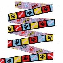 """Оптовая продажа, 5/8 """"+ 7/8"""" (16 мм + 22 мм 20y/партия) полиэстровый цветной собачий патруль, тканая жаккардовая лента для собачьего ошейника"""