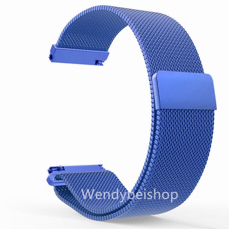 CARLYWET 16 18 20 22 23mm Plata Negro Rosa Oro Azul Malla Milanesa - Accesorios para relojes - foto 3
