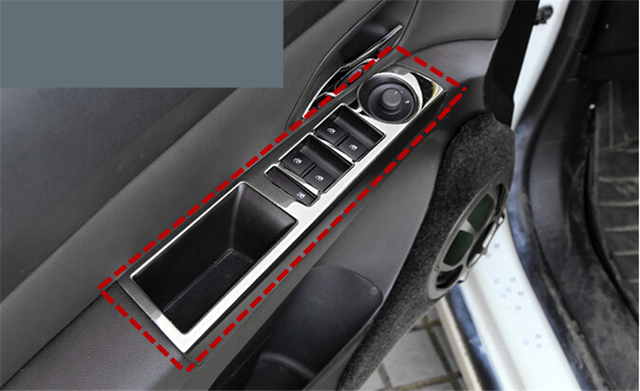 For Chevrolet CRUZE 2009 2010 2011 2012 2013 2014 4pcs Car Cover Inside Door Handle Holder Surround Inner Window Switch Trim