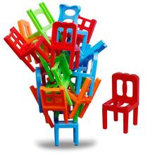 18 szt Balans układanie krzeseł klocki koordynacja oka rozwój intelektualny zabawki biurowe interaktywna zabawka tanie tanio ODILO 18pcs Urodzenia ~ 24 Miesięcy 8 ~ 13 Lat 14Y 2-4 lat 5-7 lat Dorośli Zwierzęta i Natura Zawodów Sport Transport