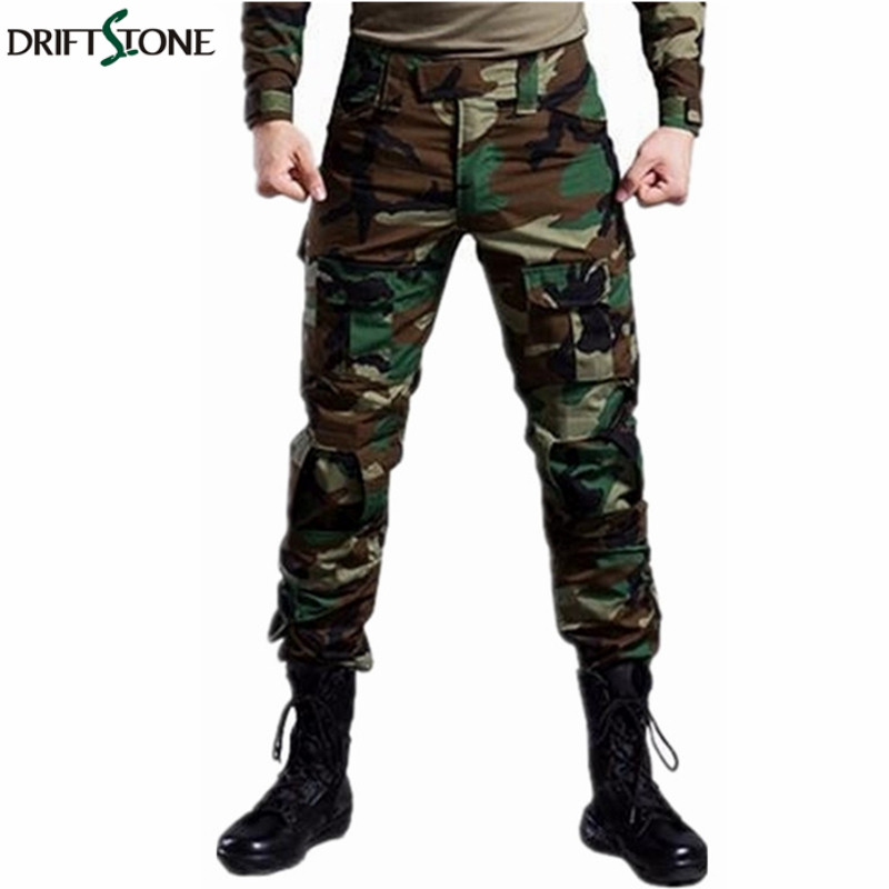 Woodland Camouflage Tactical Military Pants Men Airsoft Painball US Army Cargo Trouser MAD HLD Combat Pants Work Clothing