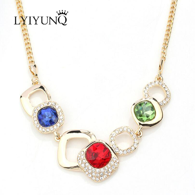 Lyiyunq geometric design fine jewelry square crystal big pendant lyiyunq geometric design fine jewelry square crystal big pendant necklace vintage rhinestone necklaces pendants for aloadofball Image collections