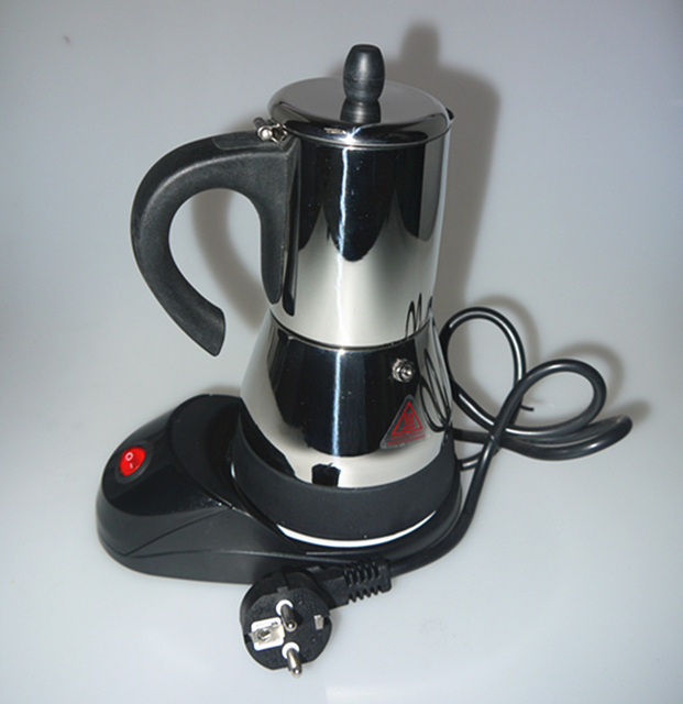 Stainless Steel Automatic Electric Stovetop Coffee Maker Mocha Pot Espresso Machine