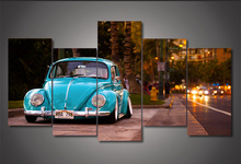 5Piece Wall Art Canvas Pictures For Room Cuadros Home Decor Volkswagen Beetle Car Posters Prints Wall Painting Hanging Frameless