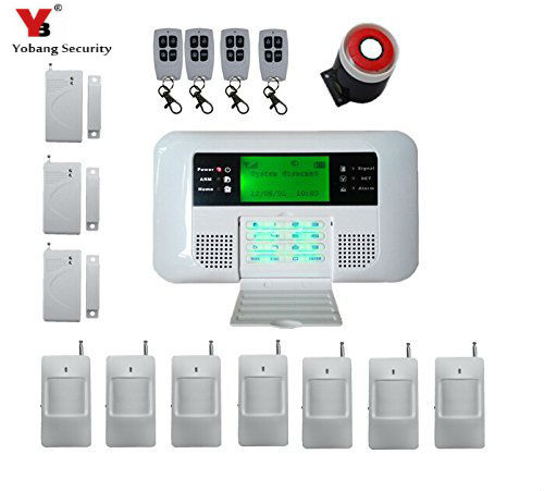YobangSecurity Wireless SMS Home intelligent GSM Alarm system Russian Spanish House Burglar Alarm System with PIR Detector 2017 new arrival wireless sms home gsm alarm system wireless remote control house intelligent diy burglar security alarm system