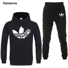ab45e69049bca Yeni 2019 Marka LOGOSU Kış Sonbahar Hoodie kazak ceket + joggers eşofman  altı adam baskı takım elbise sportwear Eşofman Mücadele.