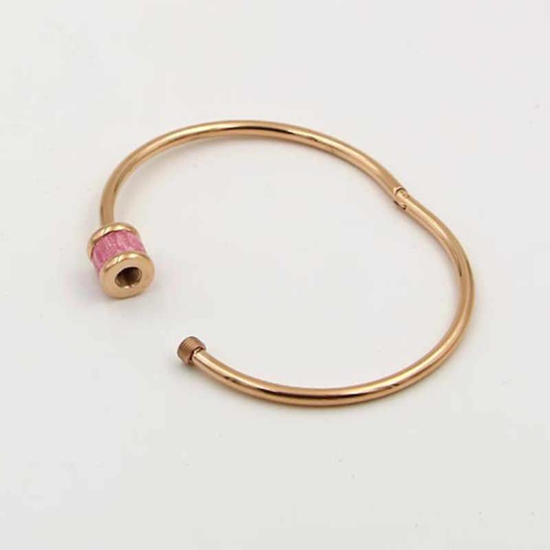 Boho תכשיטי טבעי אבן עגול צבעוני האוסטרי קריסטל צמיד & צמיד לנשים אהבת בורג צמיד הודי תכשיטי K0019