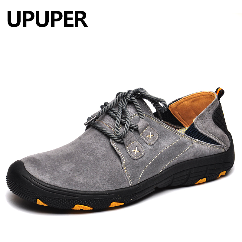 Spring Autumn Men's Casual Shoes Breathable Leather Lace Up Non slip Men Sneakers Handmade Comfortable Outdoor Shoes Men