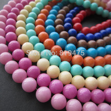 (48 pieces/lot) 8mm Beads Stone Beads Mountain beads Dyed multi-color for jewelry making