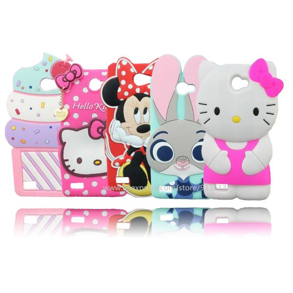 627441e7f63 De dibujos animados caso para LG Max lindo Hello Kitty Minnie Mouse helado  silicona casos del