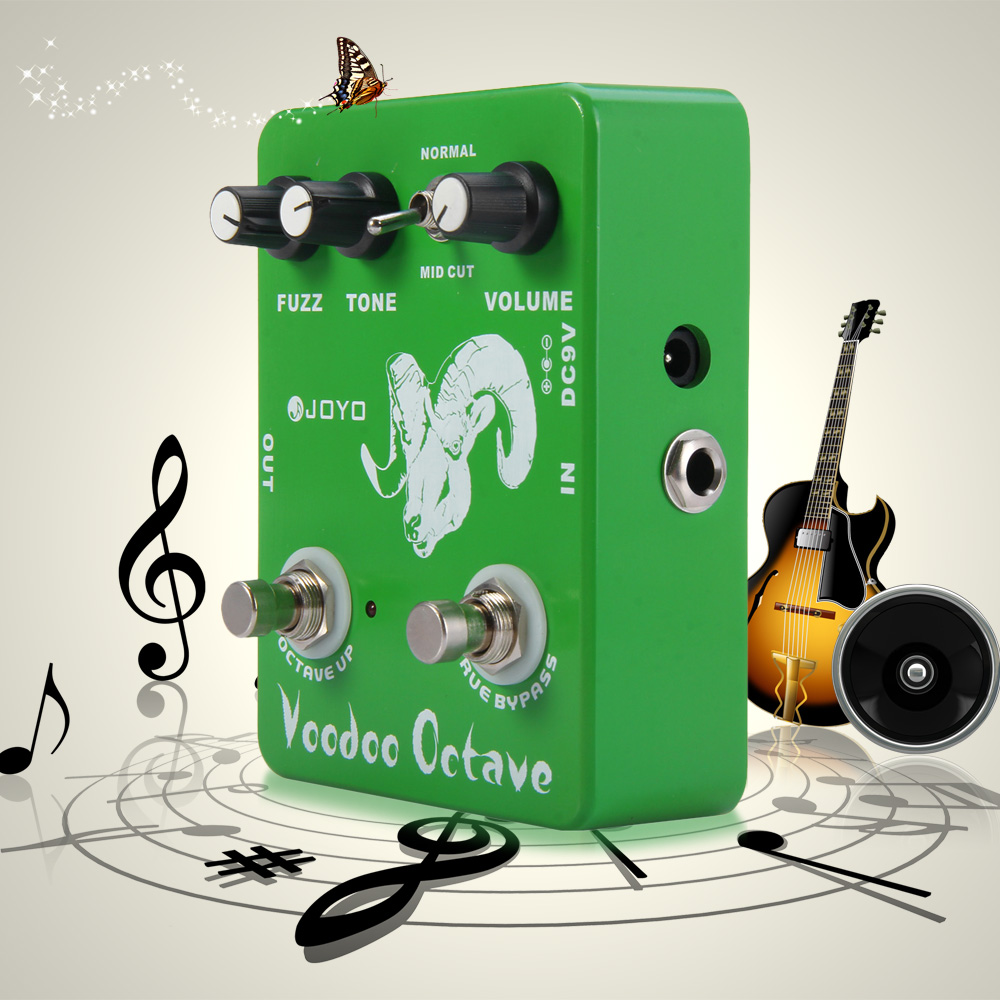 JOYO JF - 12 Electric Guitar Effect Pedal True Bypass Design Voodoo Octave Fuzz Electric Guitar Effect PedalJOYO JF - 12 Electric Guitar Effect Pedal True Bypass Design Voodoo Octave Fuzz Electric Guitar Effect Pedal