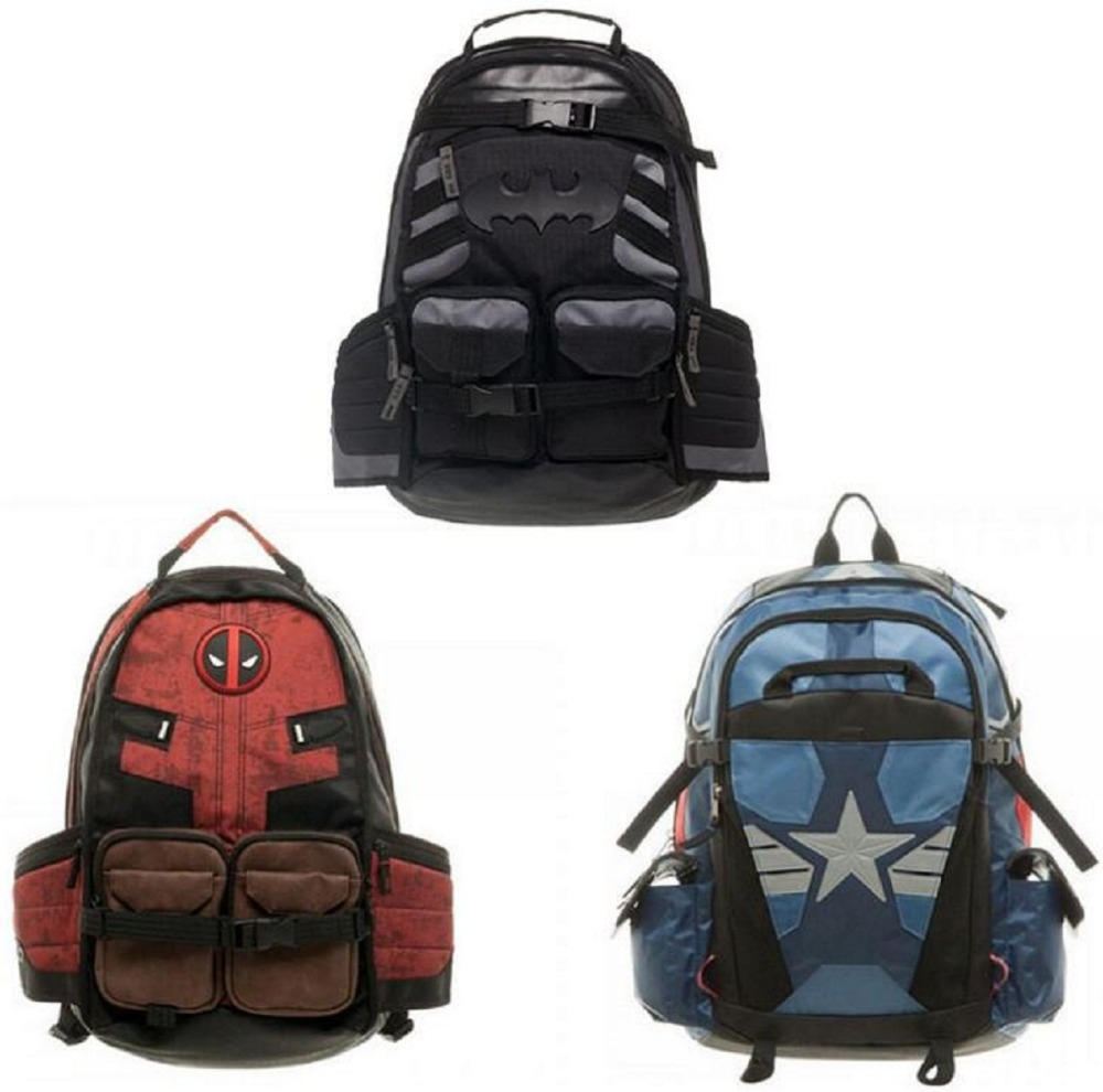 Deadpool Marvel Comics Super Hero Movie Civil War School Bags Men Rucksack Mochila Bag Backpacks Shoulder Crossbody