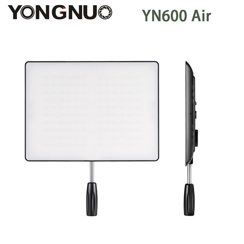 Prix pour En Stock! NOUVEAU YONGNUO YN600 Air Led Vidéo Panneau Lumineux 5500 K et 3200 K-5500 K Bi-couleur Photographie Studio Éclairage