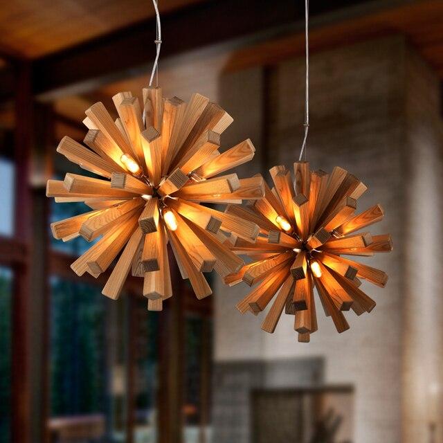 Loft Vintage Holz Pendelleuchte Wohnzimmer Schlafzimmer Studie Zu Hause Innendekoration Caf Bar Anhnger