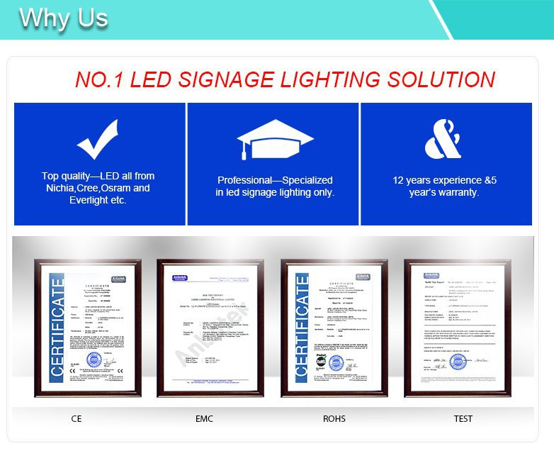 Aliexpress.com : Buy UL CE Rohs Cree 12V 2.4W edge lightbox lighting led sign modules signage material 5 years warranty waterproof from Reliable led sign ...