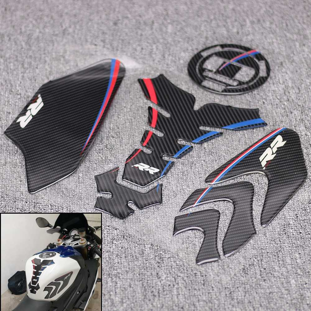 Motorbike stickers Carbon Tank Cover Decal For BMW S1000RR S1000 RR Motorcycle Anti slip Tank Pad 3M Side Gas Knee Grip Protector Sticker