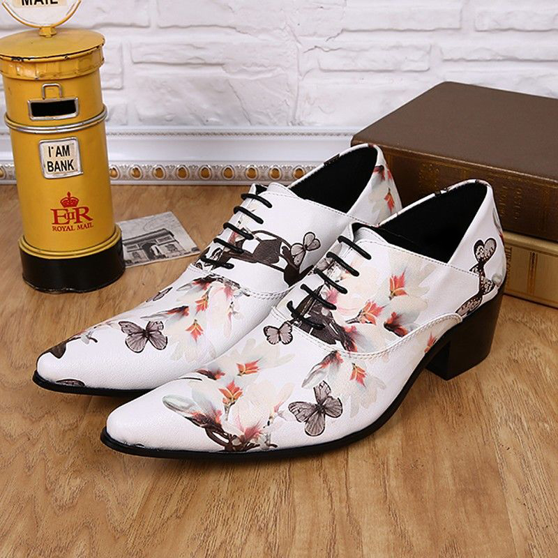 Plus Size Fashion Pointed Toe Man Italian Designer Oxfords Genuine Leather High Heels Men's Formal Banquet Wedding Shoes SL325 plus size 2016 new formal brand genuine leather high heels pointed toe oxfords punk rock men s wolf print flats shoes fpt314