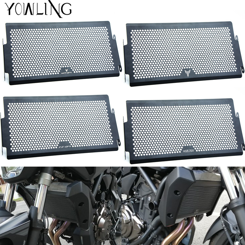 with LOGO For Yamaha MT07 MT-07 fz07 2014 2015 2016 XSR700 motorcycle radiator protective cover Guards Radiator Grille Protecter motorcycle radiator protective cover grill guard grille protector for kawasaki z1000sx ninja 1000 2011 2012 2013 2014 2015 2016
