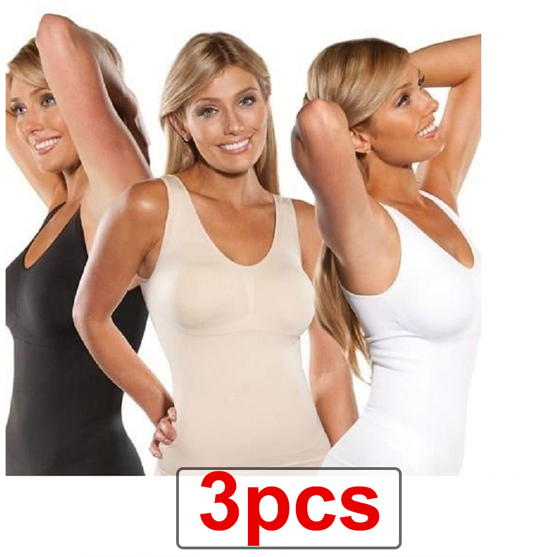 6842e12693083 Detail Feedback Questions about 3pcs Women Comfortable Wireless Cami Tank  Top Up Slimming Lift Bra Body Shaper Vest Camisole Removable Slimming  Shapewear ...