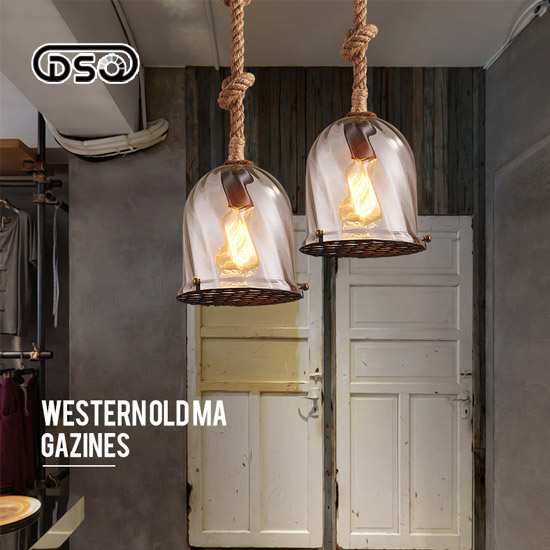 DSQ Nordic Bar Restaurant Chandelier Bar Creative Creative Retro Cafe Chandelier Simple Glass Shade contemporary and contracted creative personality retro art glass chandelier cafe restaurant study lamps act the role of milan