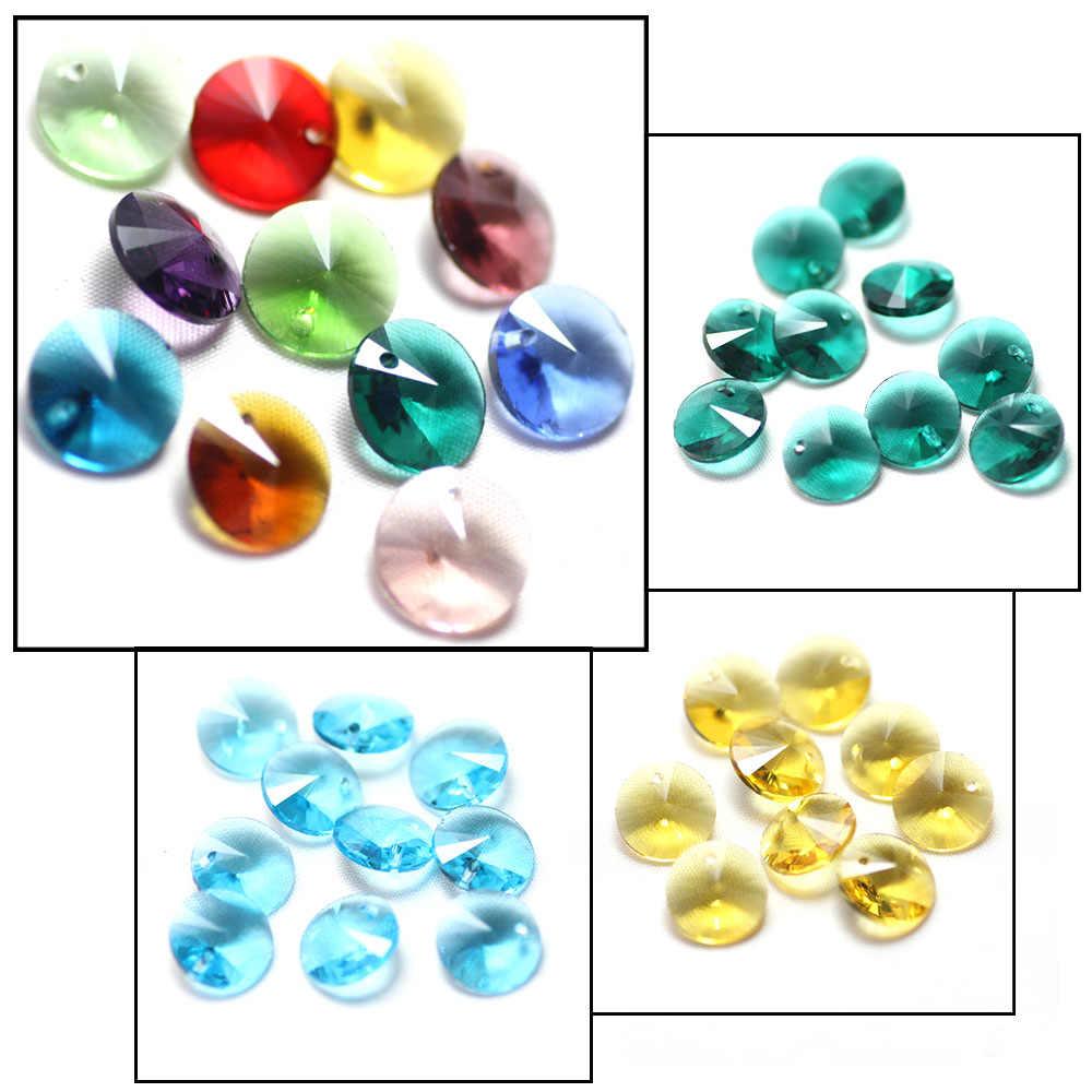 Österreich Glas Herz Faceted Bead 8/10/14 MM Kristall Lose Spacer Perlen Für DIY Machen Charme Anhänger schmuck Erkenntnisse Zubehör