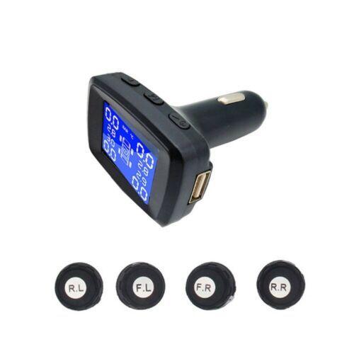 TPMS, Sistema Solar inalámbrico de monitoreo de presión de neumáticos LCD con 4 sensores externos XIU