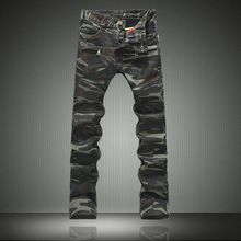 2016 Men Jeans Denim Biker Pants Famous Brand Camouflage Jeans Designer Military Skinny Jeans Army Casual Clothes