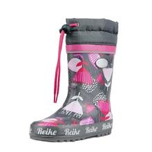 Резиновые сапоги для девочки Reike Romantic flowers grey