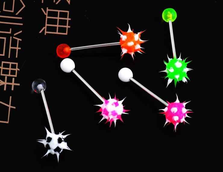 6 ชิ้น/ล็อตสีส่งแบบสุ่ม Goth Punk Clip บนเจาะปลอมจมูกแหวน Hoop หูแหวนลิ้น Unisex เครื่องประดับ