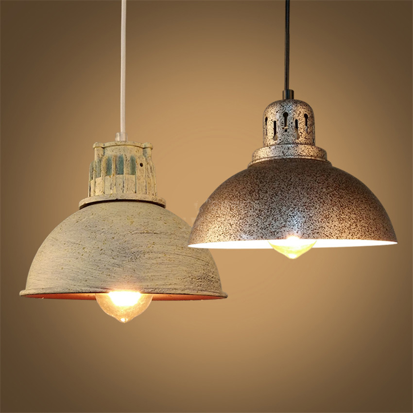 Industrial Retro style Iron Antique Rust Loft Metal Fixture Pendant Lights Lamps with 1 Light american country industrial style wheel pendant lamps with 6 lights retro loft metal pendant light for bar home living lights