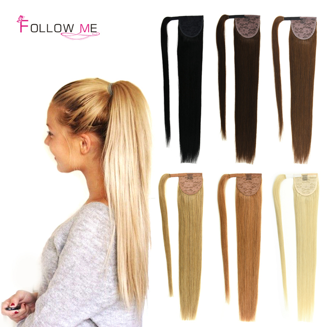 Best Quality Indian Human Hair Ponytail Extensions Natural Virgin