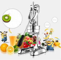 FREE SHIPPING 100 Stainless Steel Manual Hand Press Juicer Squeezer Citrus Lemon Fruit Juice Extractor Commercial