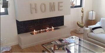Inno Fire36  Inch Silver Or Black Wifi Real Fire Intelligent Indoor Auto Biofuel Fireplace