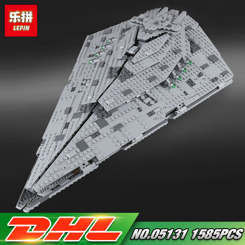DHL Lepin 05131 1585Pcs Star Toys Wars The First order 75190 Star Destroyer Set Building Blocks Bricks Kids Toys Christmas Gifts